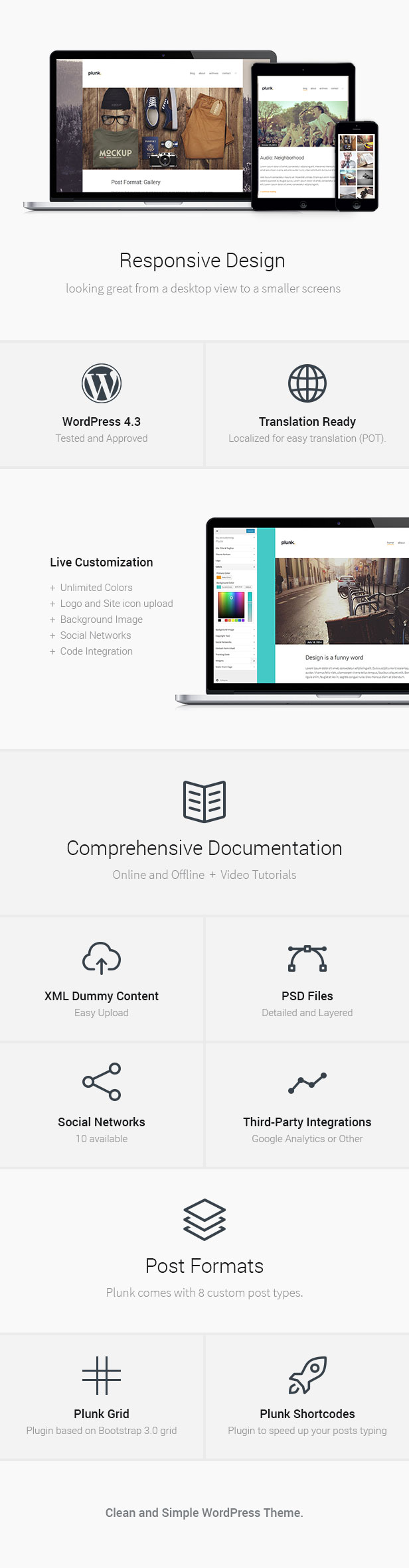 Plunk - WordPress Blog Theme